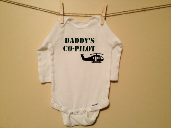 Daddy's Co-Pilot Helicopter Onesie