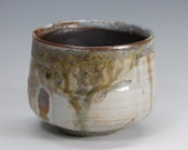 Kuma matte shino Chawan w/ aka shino liner and applewood ash