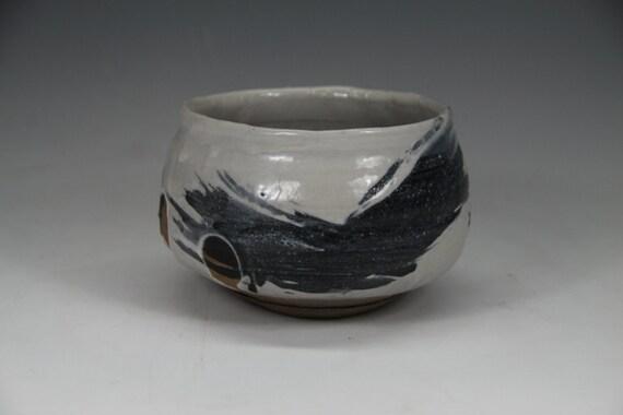 Kuma Shino Chawan w/ Gosu brush work