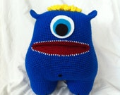 CUSTOM ORDER - Big Blue Stuffed Monster Amigurumi