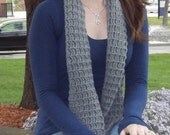 Unisex Grey Thermal-Look Scarf
