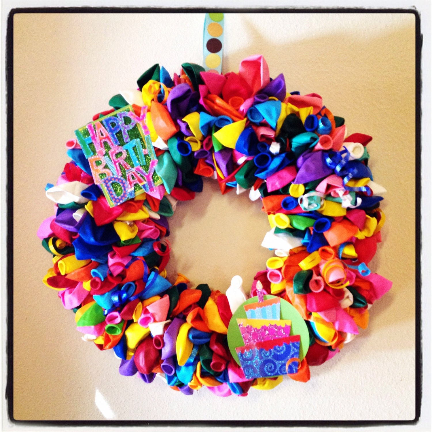 Birthday Wreath Door Decoration To Announce A Birthday