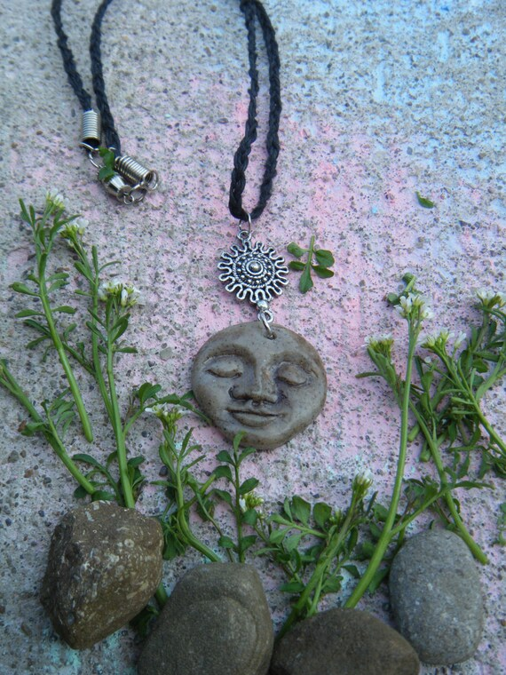 Mystic moon hemp necklace