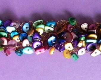 Bracelet crocheté Fiesta / Fiesta Crocheted Bracelet