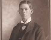 Antique Cabinet Photograph of a Young Man