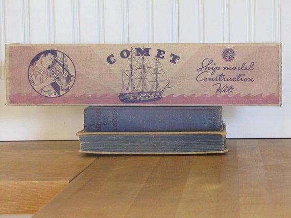 Vintage Comet Model Kit Ship Seth Parker K3