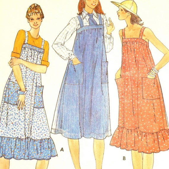 70s Hippie Boho Dress Sewing Pattern // Butterick 5869 //  UNCUT  //  Size 12 - Bust 34