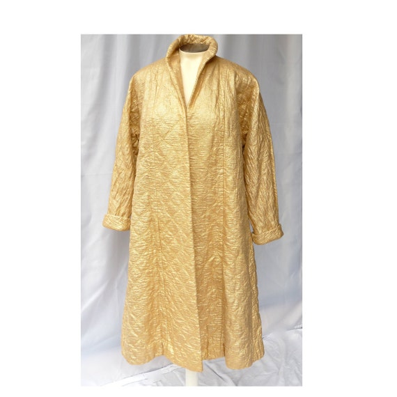 50s Gold Swing Coat  -- Rehab Project Costume  -- Royalty / Retro Glam / Starlet