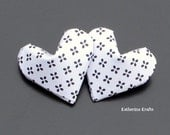 Origami Hearts, Black and White Set of 30 Paper Hearts