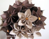 Musical Origami Flowers in Earth Tones - Graduation Gift