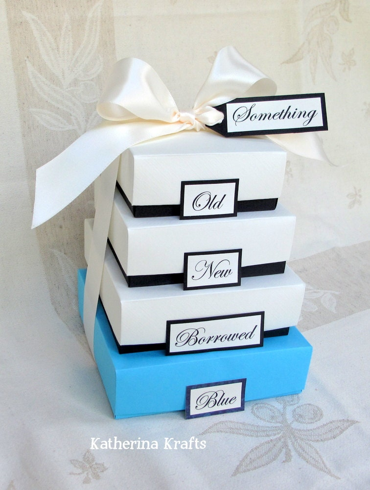 Wedding Gifts For Bride Something Blue : Something Blue Wedding Gift Boxes Something Old Something