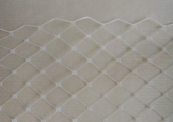 """1 Yard Ivory Russian Netting French Netting for Birdcage Veil or Fascinator or Headband 9"""" Wide"""