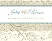Elegant Filigree DIY Printable Wedding Invitation - matching stationery and save the date available