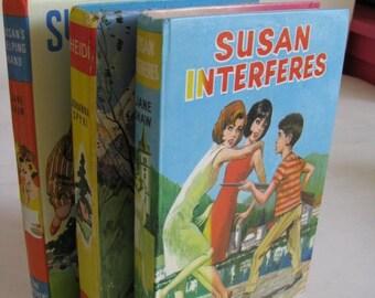 vintage english / scottish 'susan interferes' hardback book