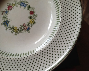 RARE Spot & Wreath - Minton and Boyle - 1836-1841- bowl / plate - English - Antique