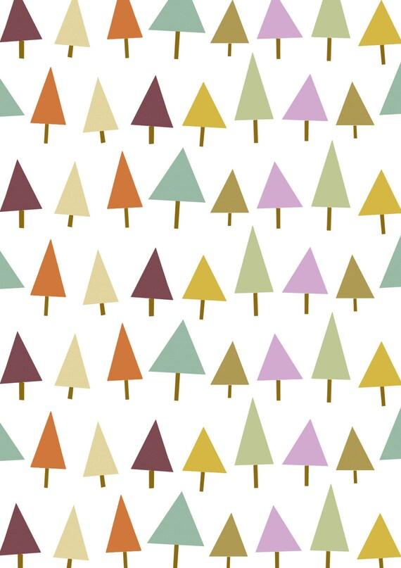 Pine Tree Triangle Design Patterns