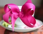 Dark Pink Hair Bow Hair Clip Girls Hair Bow Baby Hair Bow Toddler Hair Bow Infant Hair Bow