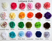 Baby Hair Clips Toddler Hair Clips Infant Hair Clips Kids Hair Clips You Choose Color Shabby Flower Hair Clip