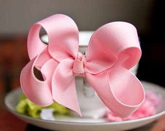 Light Pink Hair Bow Hair Clip Hair Bow for Toddlers Hair Bow for Kids Kids Hair Accessory