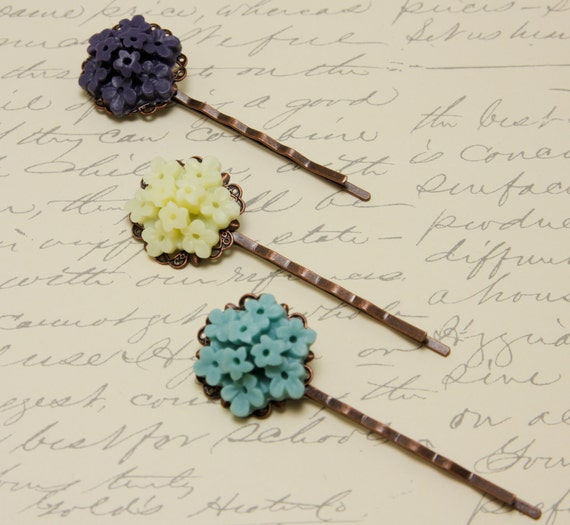 Flower Cluster  French Couture  Bobby Pin Hair Accesory