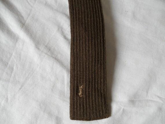 Vintage Yves Sain Laurent knit tie wool 1980s