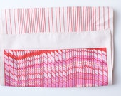 Vintage Pink Candy Striped Scarf