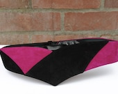 Reserved for Tess. Vintage 1980's Pink and Black Statement Belt