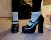 Grunge/ Gothic Platform Heels, Mary Jane style EUR 40