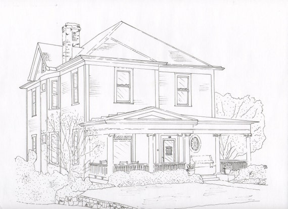 Custom Pen and Ink Drawings of Homes, Businesses, Family Farms, etc.