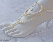Barefoot Sandals with Pearls, Crystals and Seashells For Your Destination Beach Wedding