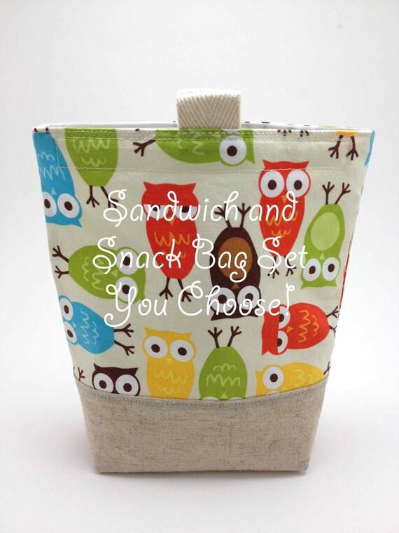 Reusable Sandwich Bag and Snack Bag Set - You Pick