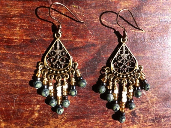 Bohemian Beaded Fringe Earrings