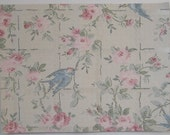 Wallpaper 10 Sheets  or Custom Sizes with Blue Birds and Roses for Mixed Media Collage, Scrapbooking, Altered Art and More
