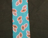 Vintage Teal Christian Dior Monsieur Necktie with abstract design.