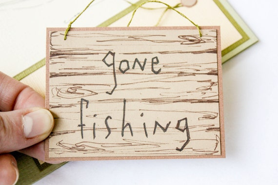 Father's Day Card: CLEARANCE GONE FISHING Card