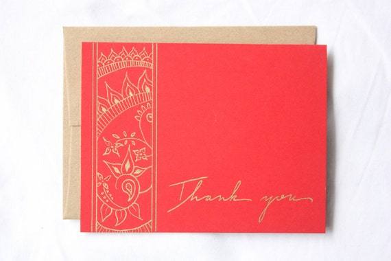 RESERVED for Felicia Kmetz-Set of 50 Thank You cards