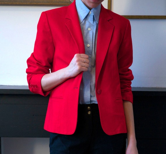 Bright Red Pendleton Blazer
