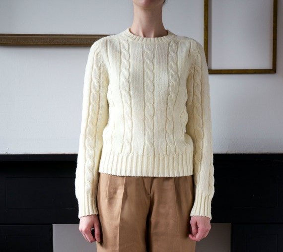 Fisherman Cable Knit Spring Sweater