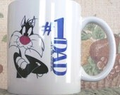 Dad's Coffee Mug with Sylvestor the cat humor