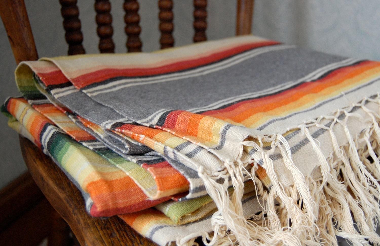 Vintage Mexican Saltillo Serape Blanket