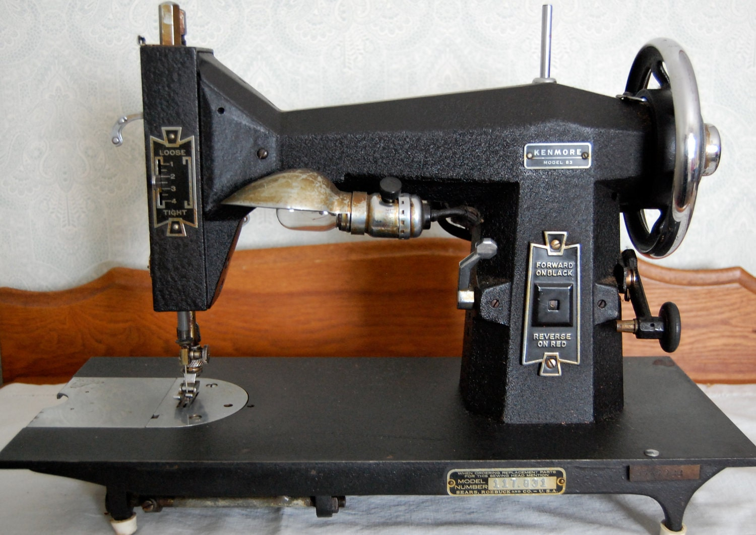 Electrical Sewing Machine : Antique kenmore model electric sewing machine