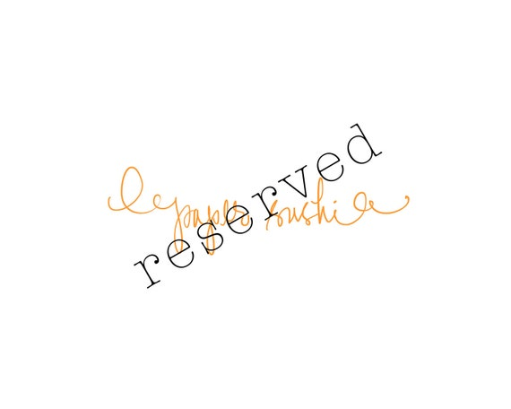 RESERVED LISTING for M