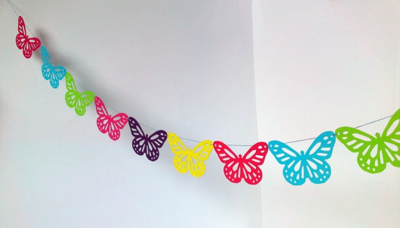 Butterfly Decorations For Home: Items Similar To Beautiful Butterfly Bunting Party