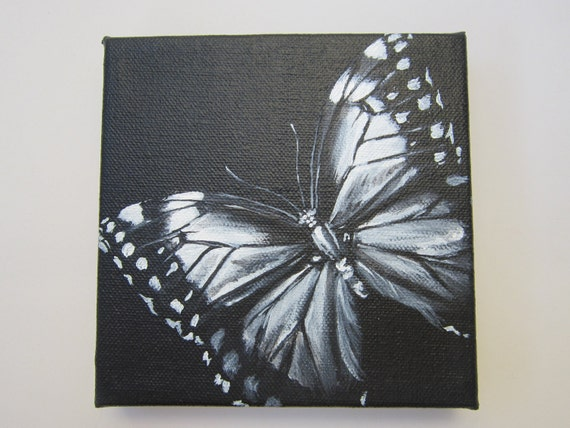 White on Black Canvas Paintings Painting Black And White
