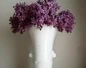 Vintage Vitrock White Glass Art Deco Flower Vase
