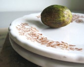 Vintage Woodland Bread Plates, Set of Two