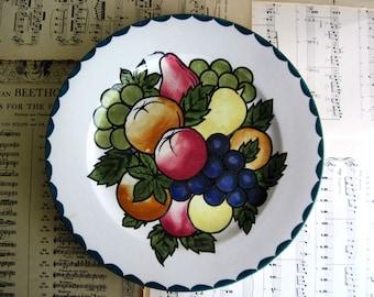 Antique Scottish Plate, Decorated Plate, Britannia Pottery, Scotland, Antique Pottery, Vintage Plates, Vintage China, Vintage Ceramics, 1920