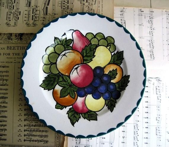 Antique Scottish Plate, Decorated Plate, Vintage Pottery, Scotland, Antique Pottery, Vintage Plates, Britannia Plate, Vintage Ceramics, 1920