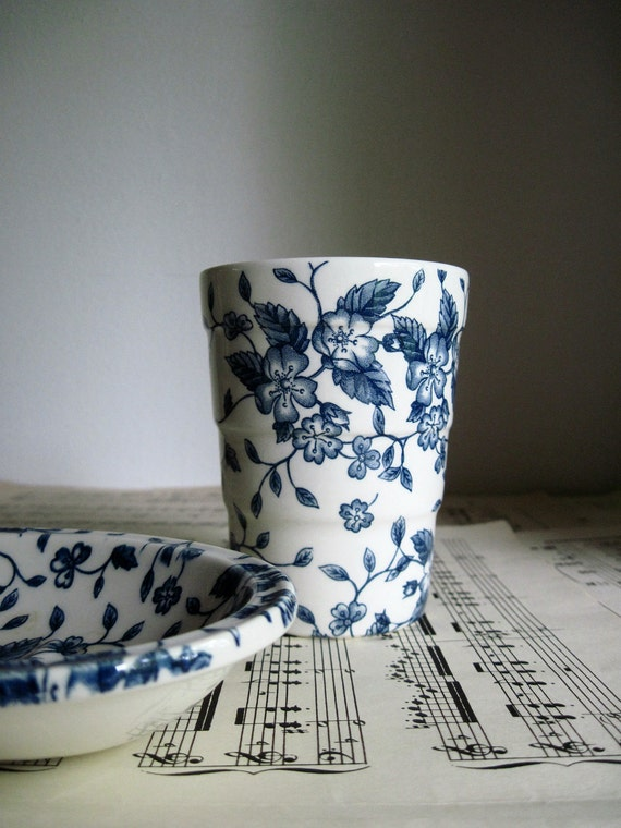 Vintage China Cup and Soap Dish Set, Made in England