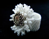 Crystal look - handmade ring